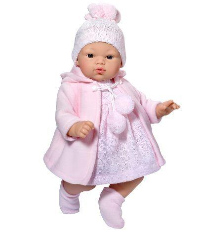 Image of Babydukke fra Así - Blød krop - Koke pige i frakke (36 cm) (24401620)