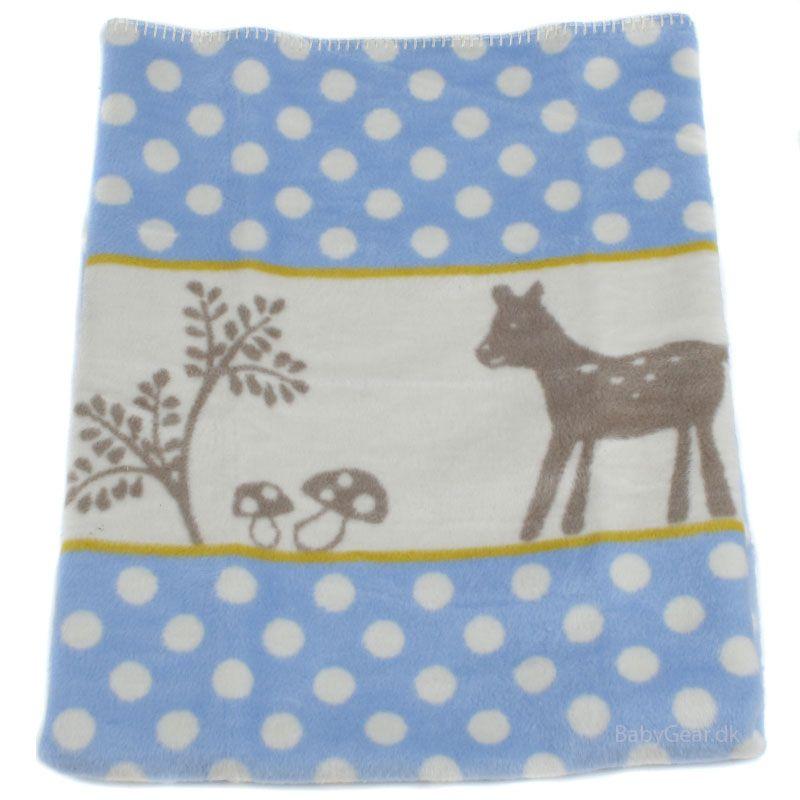 Billede af Tæppe fra Fussenegger (100% økologisk) - Blue Dot Bambi (75x100)