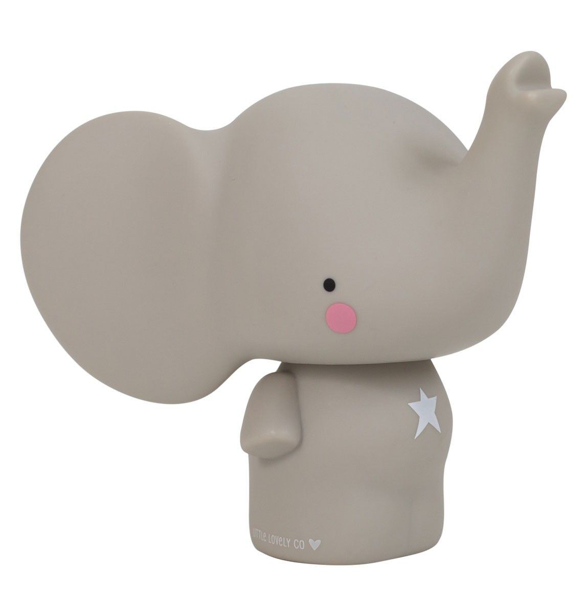 Image of Sparebøsse fra A Little Lovely Company - Elefant - Grå (MBELGR05)