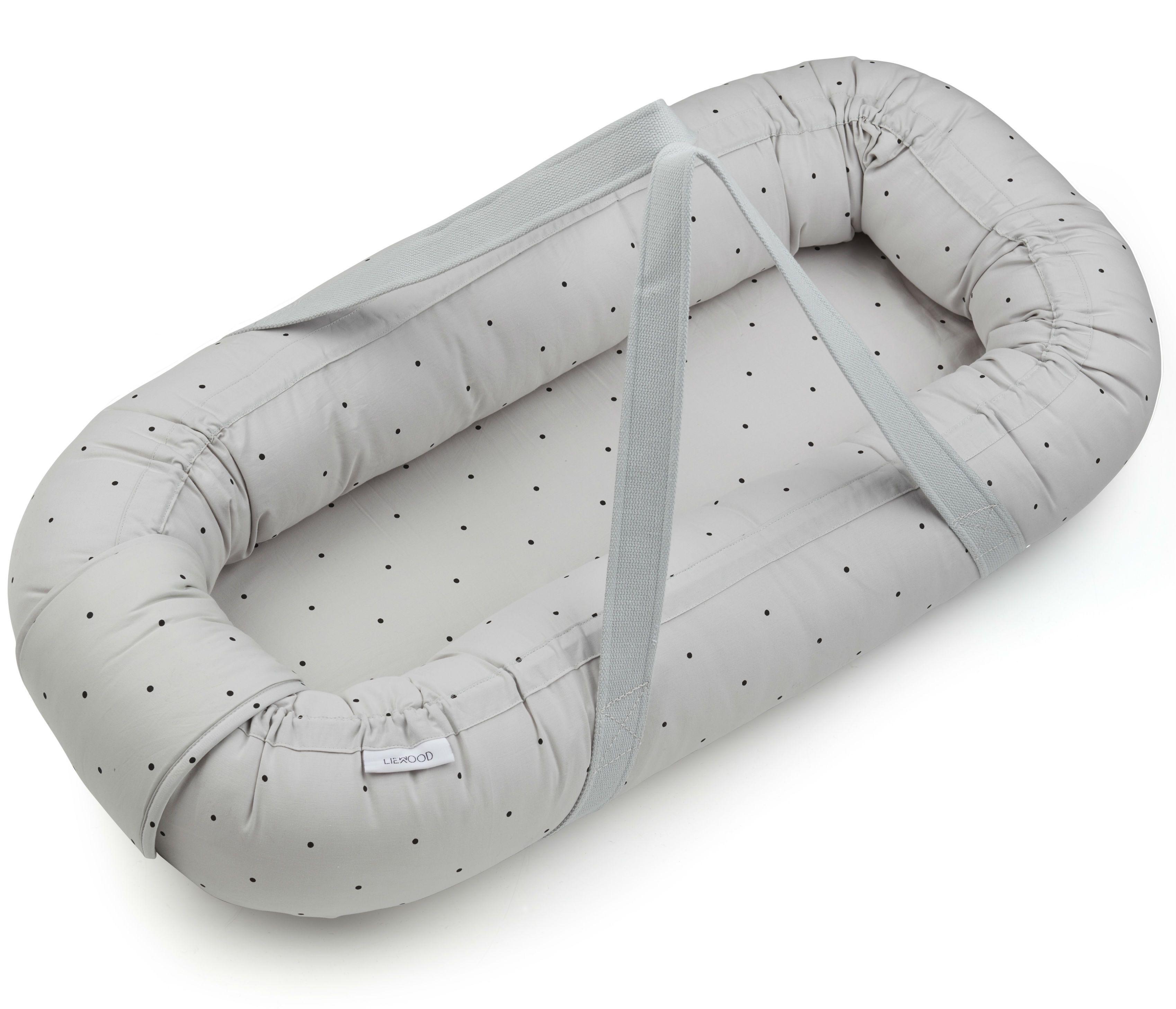 Babylift / babynest fra Liewood - Gro - Classic Dot Dumbo Grey