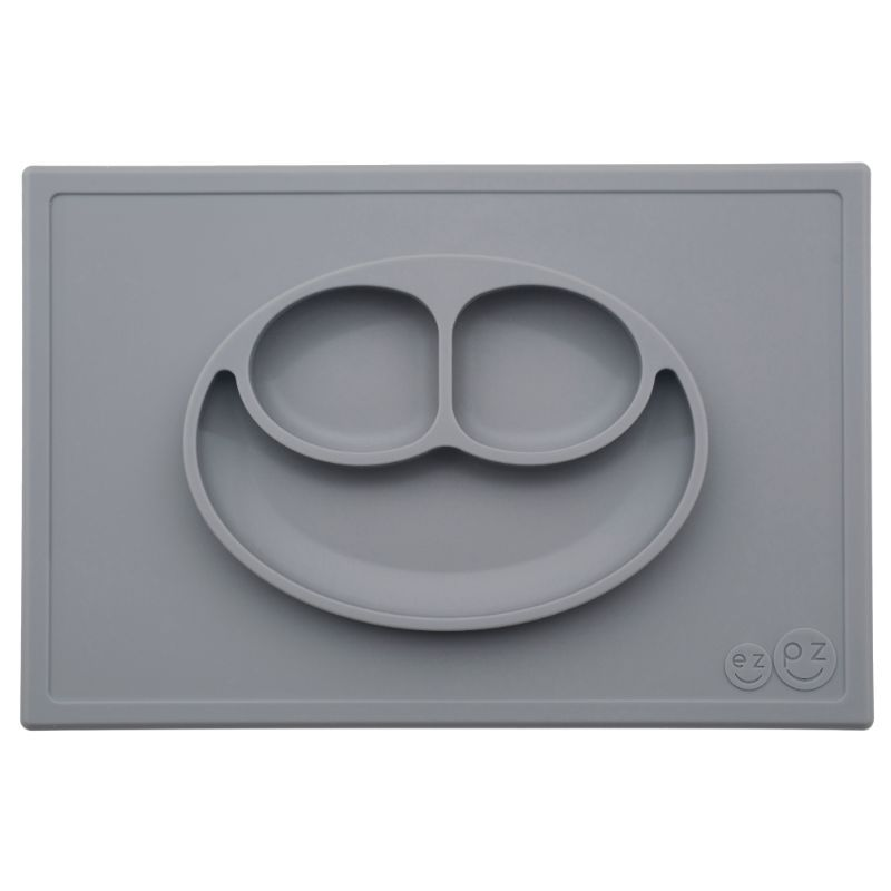Image of Tallerken m. rum fra Ezpz - Happy Mat - Grey (EZPZ1006)
