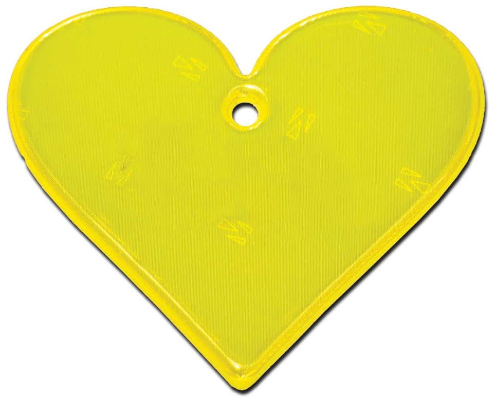 Image of   Hængerefleks fra Softreflector - Yellow Heart