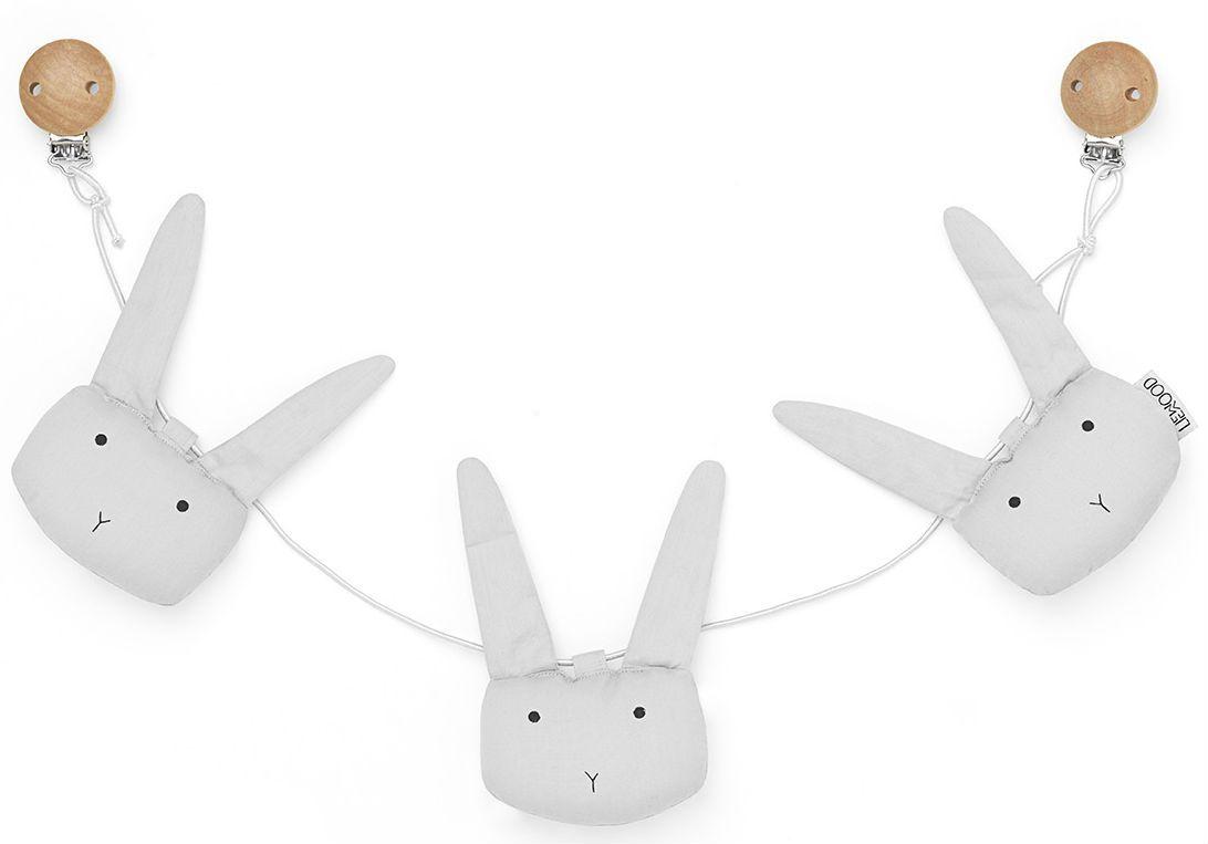 Barnevognskæde fra Liewood - Holger - Rabbit / Grey
