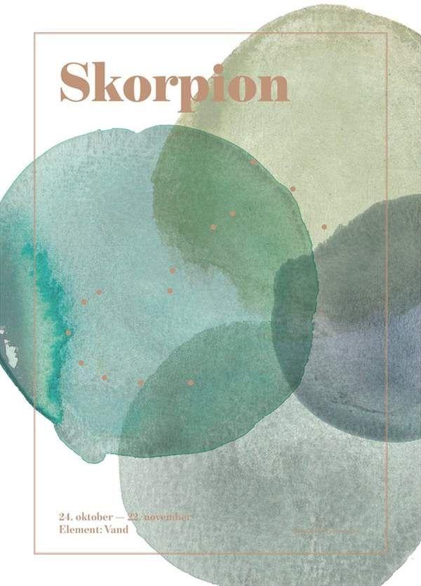 Image of Plakat fra SpecialDay - Stjernetegn - Skorpion (Skorpionen)