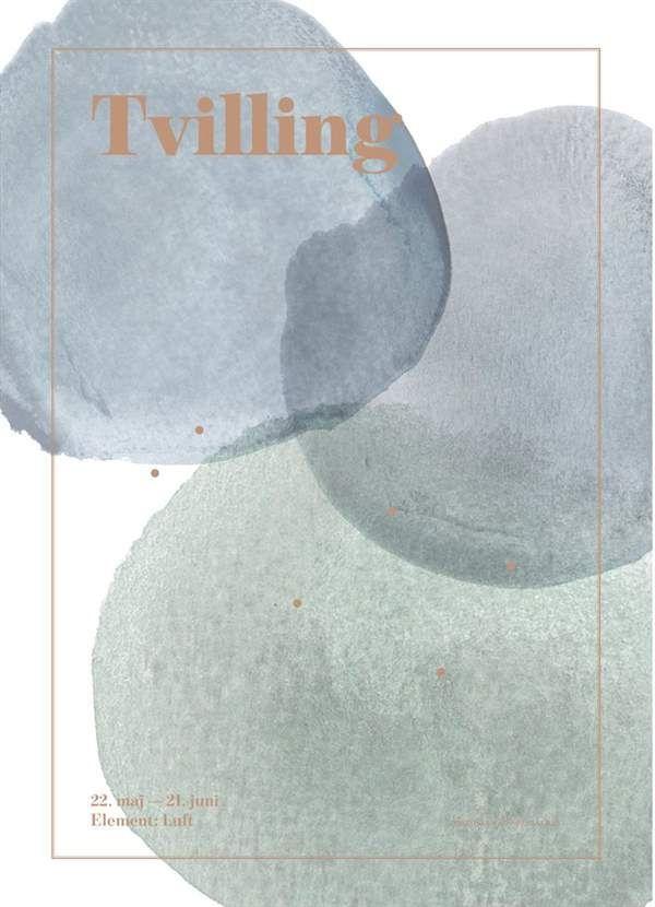 Image of Plakat fra SpecialDay - Stjernetegn - Tvilling (Tvilling)