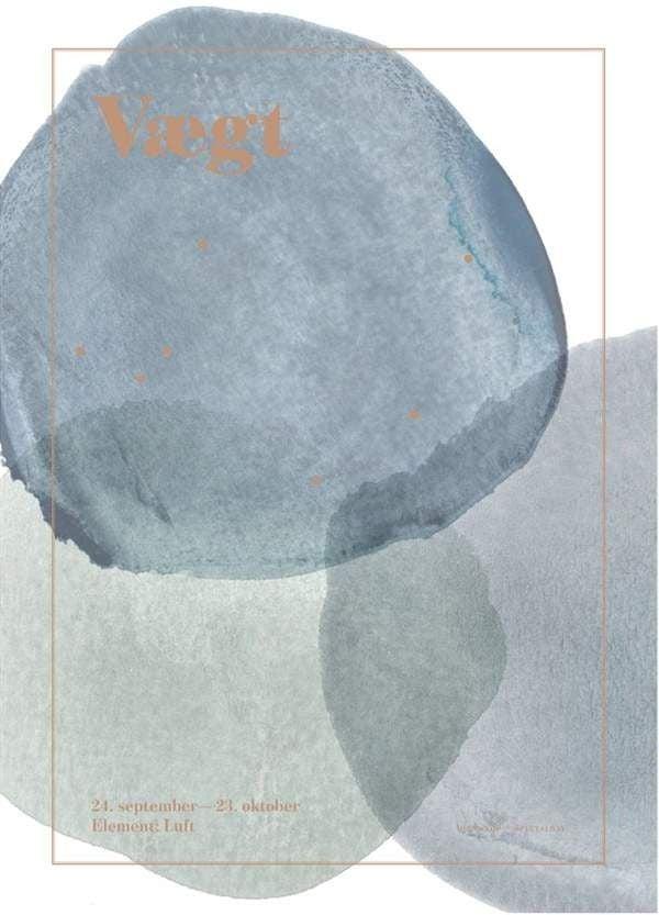 Image of Plakat fra SpecialDay - Stjernetegn - Vægt (Vaegten)