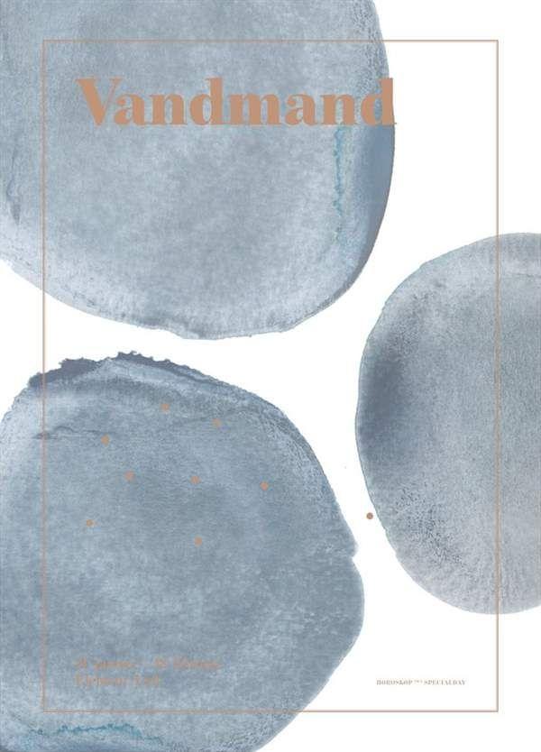 Image of Plakat fra SpecialDay - Stjernetegn - Vandmand (Vandmand)