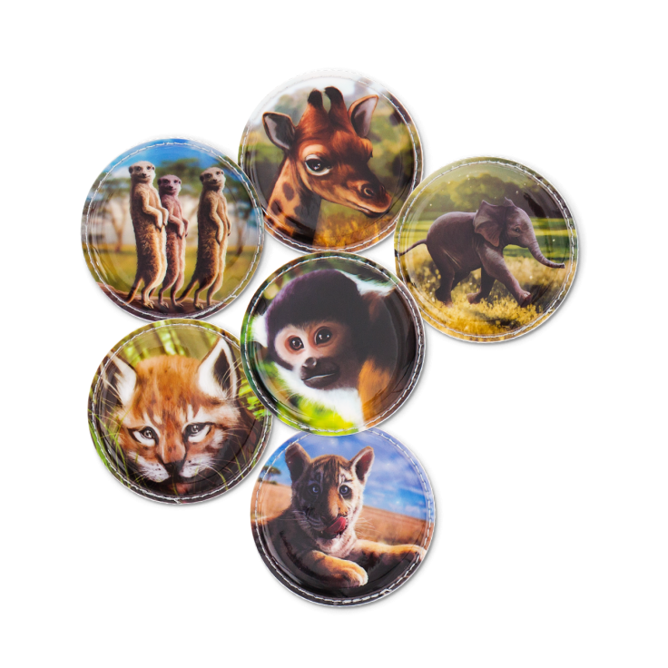 Image of Badges til Ergobag skoletaske - Kletties - ZOO babies (ERG-KLE-002-022)