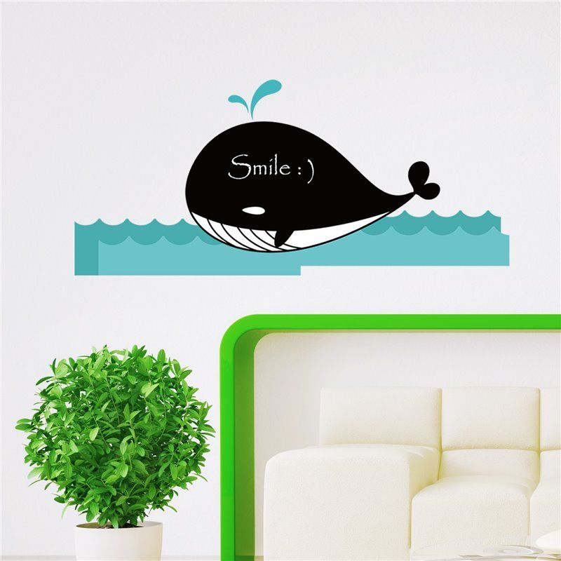 Image of   Wall sticker - chalkboard Whale