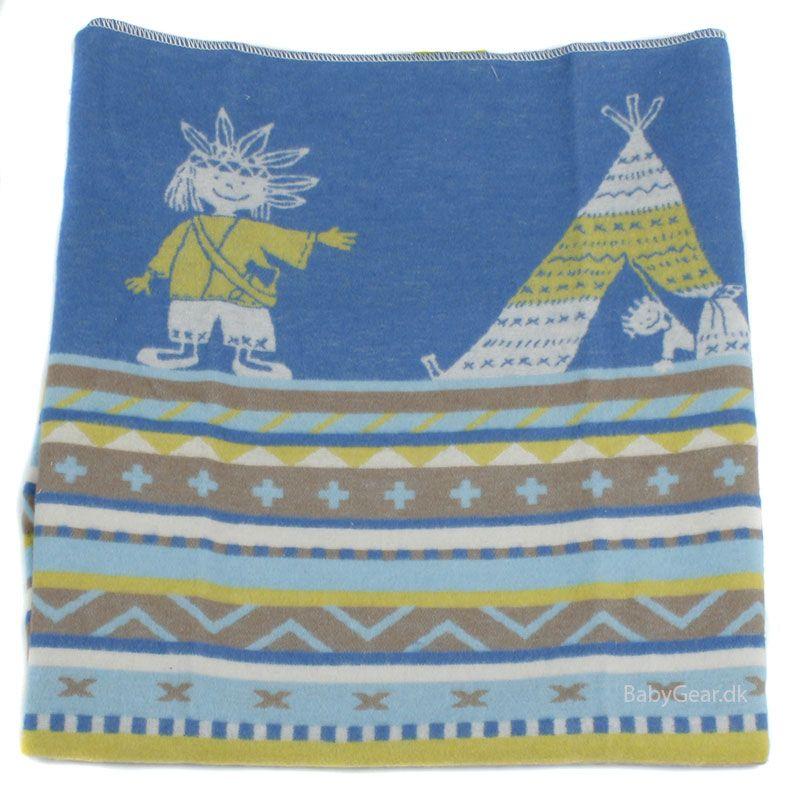 Tæppe fra fussenegger (øko tex 100) - indianer (70x90) fra David fussenegger fra babygear.dk