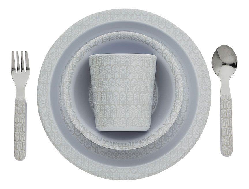 Image of   Spisesæt fra Filibabba - Melamin - Junior - Indian Warm Grey