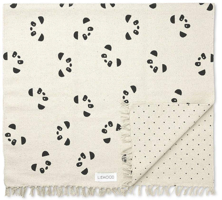 Billede af Gulvtæppe fra Liewood - Ingrid - Vendbart - Panda (90x180)