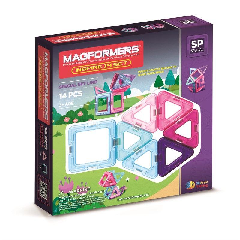 Magnetisk Byggesæt - Magformers Inspire (14 dele)