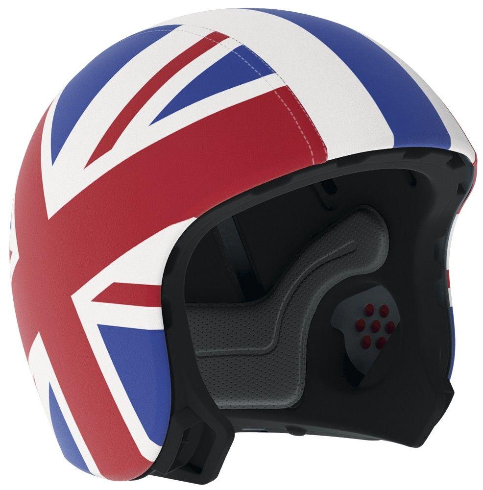 Skin / overtræk til cykelhjelm fra EGG - Union Jack