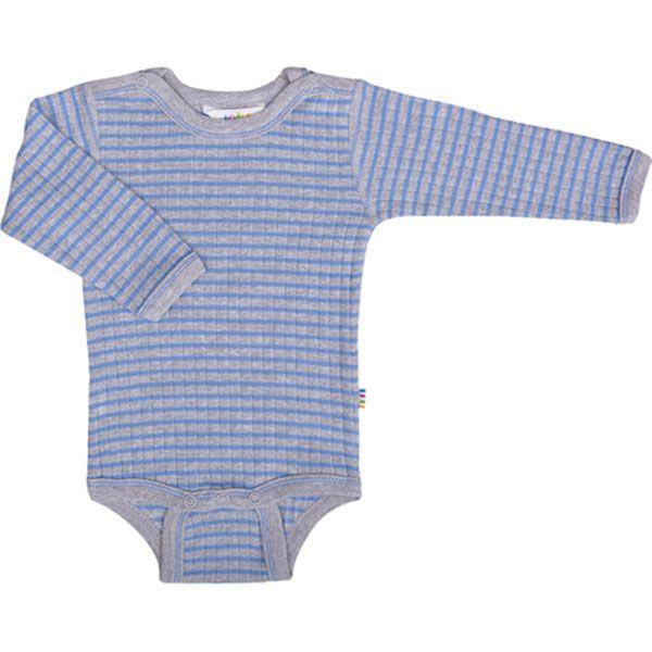 Image of   Body fra Joha - lange ærmer - Grå og blå striber