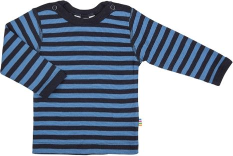 Image of   Uld trøje fra Joha - Block Stripe - Marine/Blå