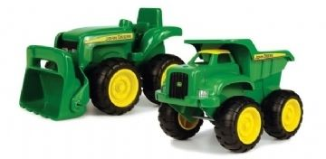 Image of Mini Sandbox Tractor & Dump Truck set fra John Deere (2 stk) (15-42952)
