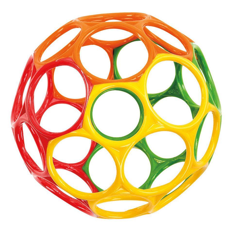 Big oball  - motorikbold - rainbow (15 cm) fra Oball fra babygear.dk