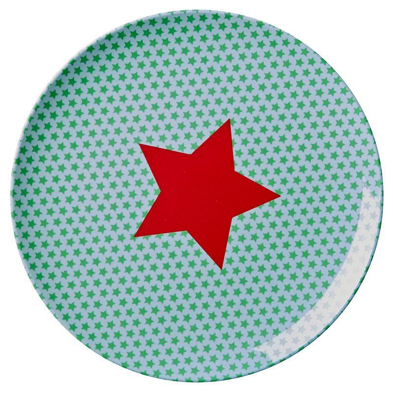 Tallerken fra Rice - Melamin - Mellem - Stars Mint