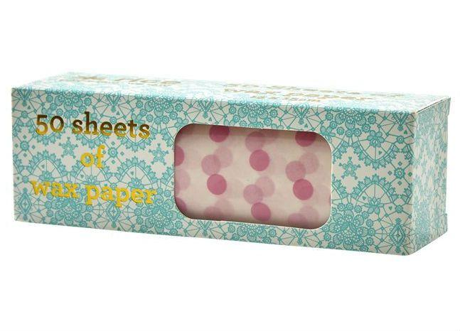 Image of Madpakke papir fra RICE 15x15cm - Pink Dots (50 stk) (KISAW-50SDOTXC_Pink)