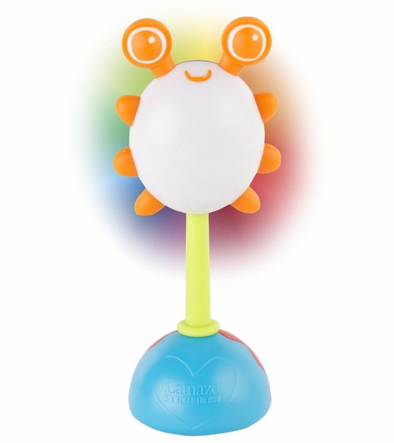 Ryste rangle fra Lamaze m. LED-lys - Rainbow Glow rattle