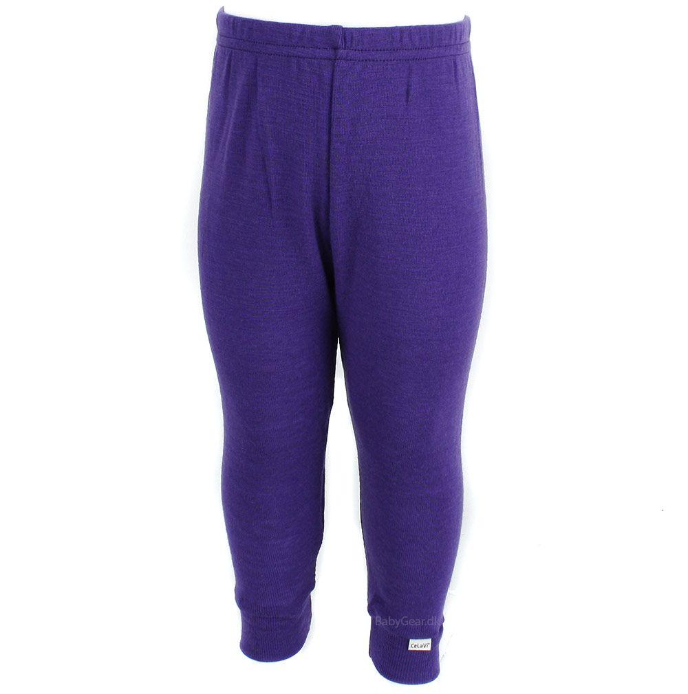 Uld leggings / natbukser fra celavi - lilla fra Celavi fra babygear.dk
