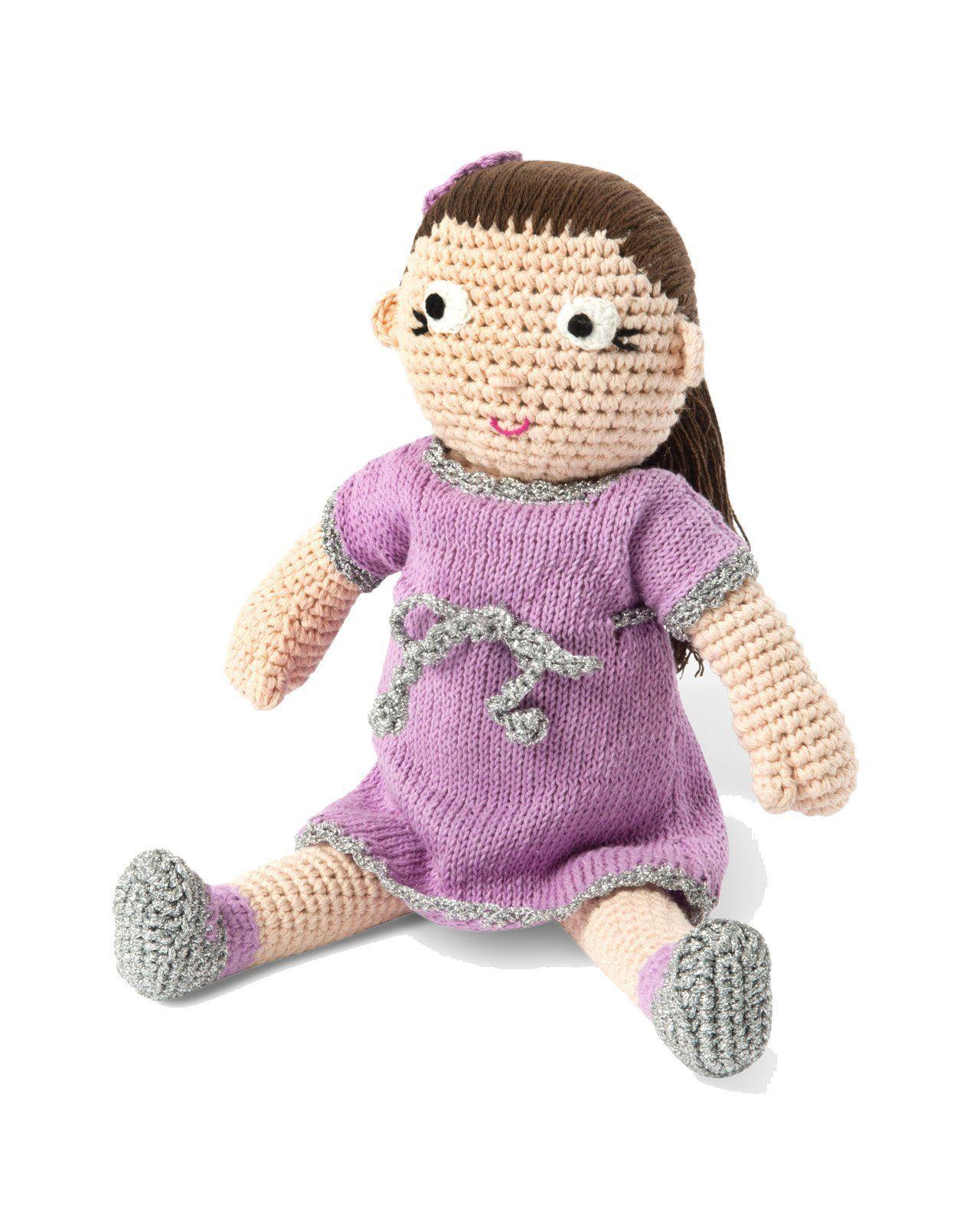 Stor håndhæklet dukke fra Smallstuff - Liva