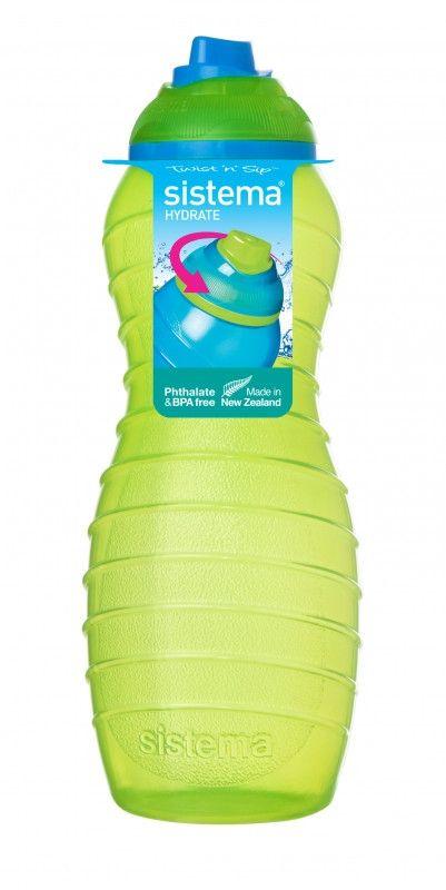 Image of   Drikkeflaske fra Sistema - Davina Twist 'n' Sip - Lime/turkis (700ml)
