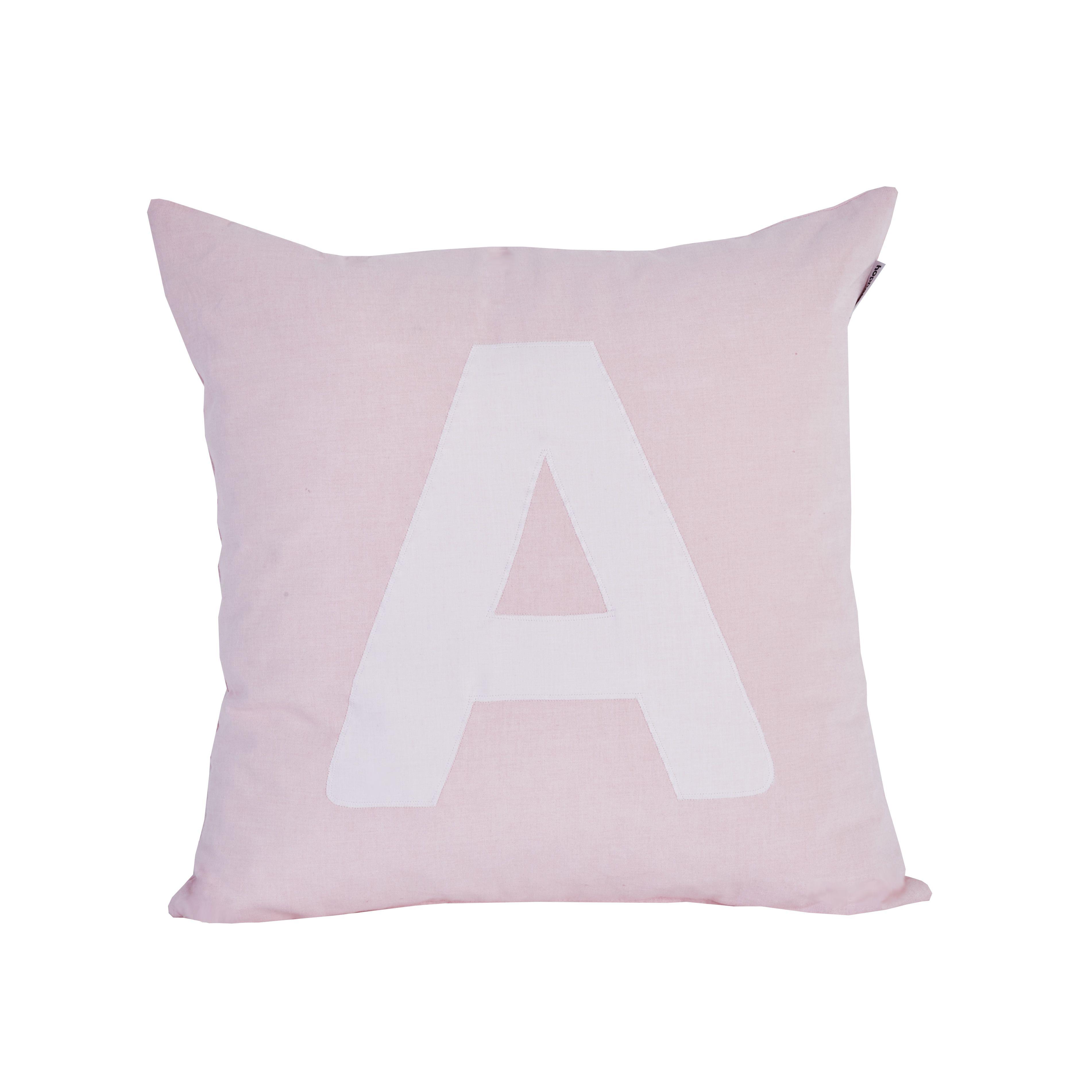 Pude Alphabet A lyserød fra Hoppekids