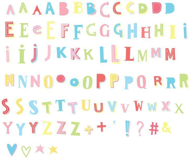 Image of   Bogstaver til Little Lovely Company Lightbox - Funky Colour