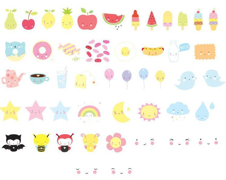 Image of   Symboler til Little Lovely Company Lightbox - Kawaii