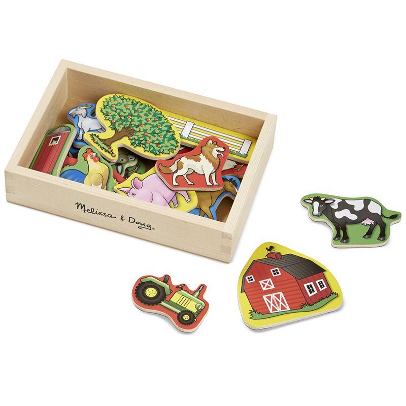 Billede af Magneter fra Melissa & Doug - Wooden Farm Magnets