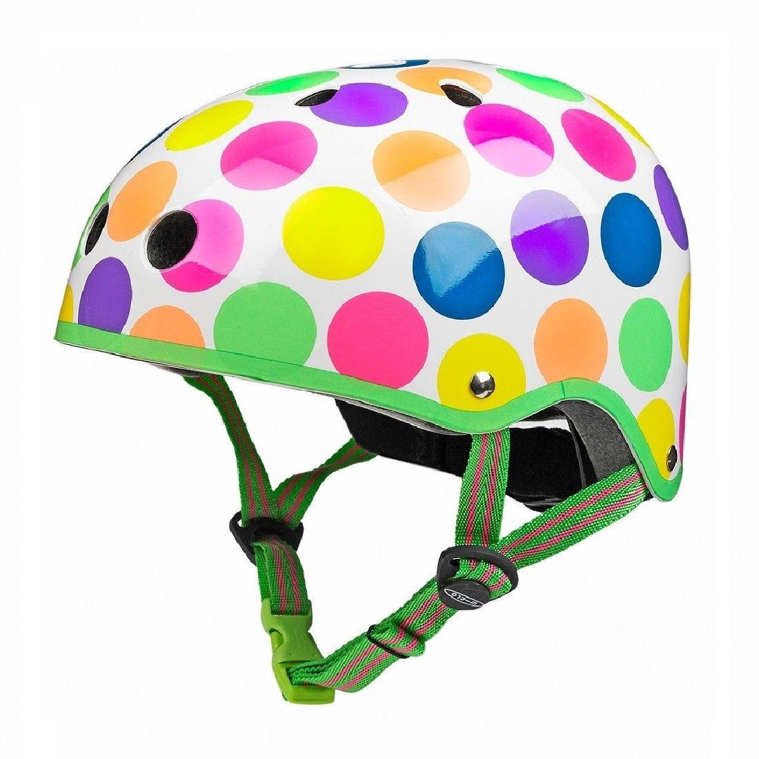 Cykelhjelm fra Micro - Neon Dots
