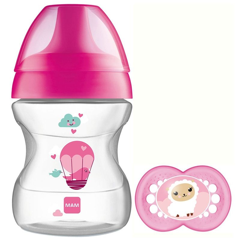 Image of   Drikkekop fra MAM - m. sut - Learn to Drink Cup (6m+) - Pink