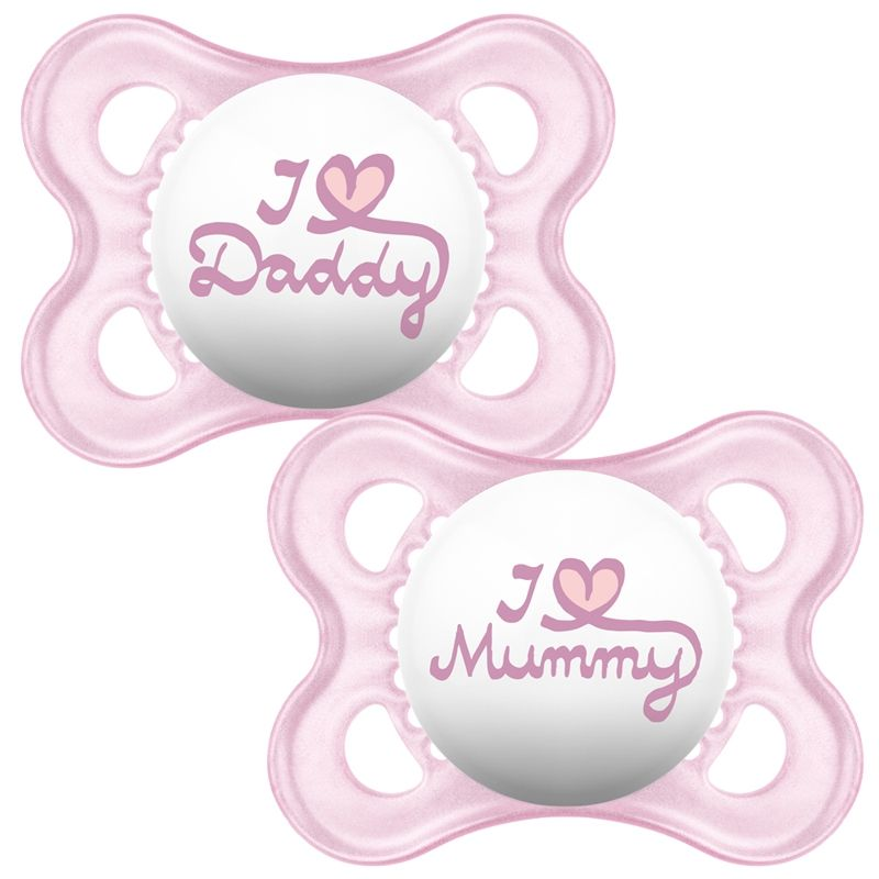 Sut fra MAM - Original I Love Mummy & Daddy - Rosa (0m+)