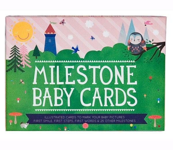 Milestone Baby Cards - Barnets Udvikling - Den første gang... ENGELSK (30 stk)