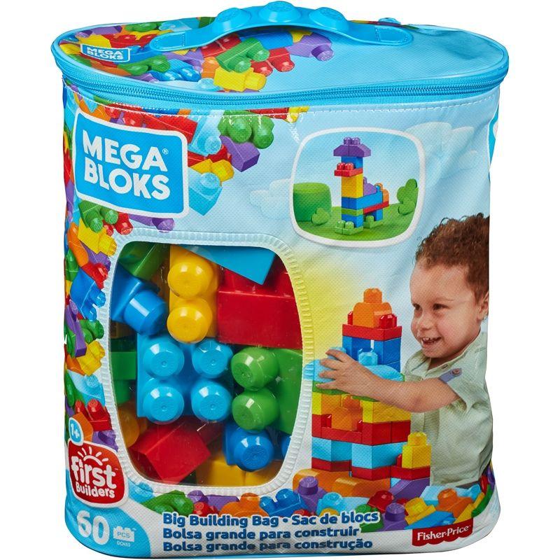 Image of Mega Bloks fra Fisher-Price - Big Building Bag (60 stk.) (MGB-TOY03)