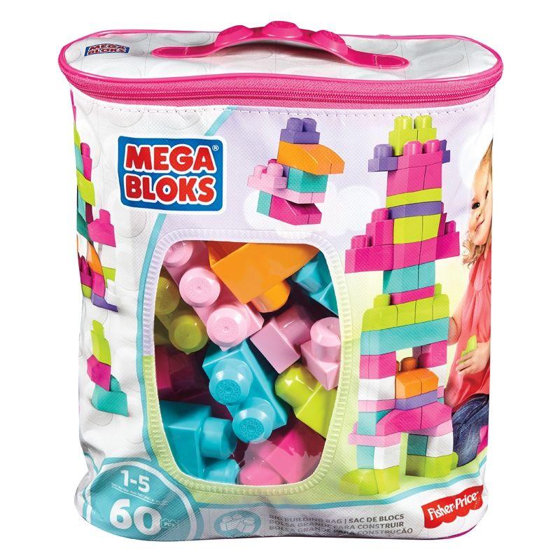 Image of Mega Bloks fra Fisher-Price - Big Building Bag - Pastel (60 stk.) (MGB-TOY02)