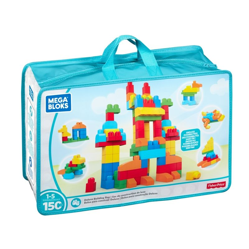 Image of Mega Bloks fra Fisher-Price - Deluxe Builders bag (150 stk.) (MGB-TOY10)