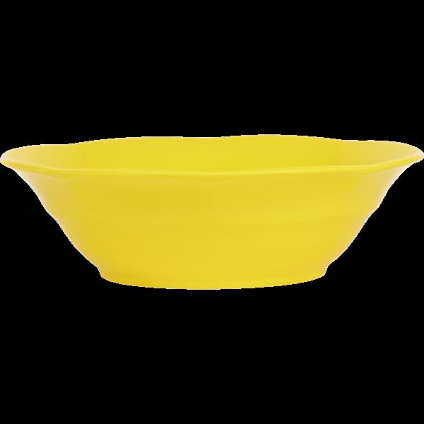 Image of Dyb tallerken fra RICE - Melamin - Gul (MEGSB-Y)