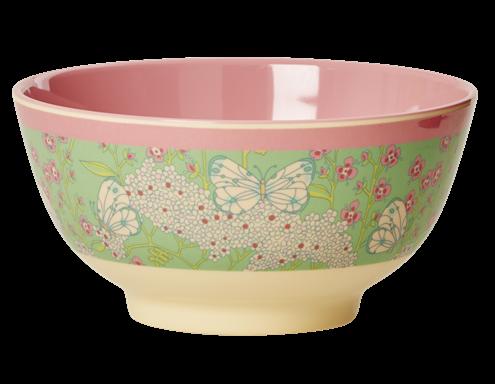 Image of   Skål fra Rice - Melamin - Medium - Butterfly and Flower