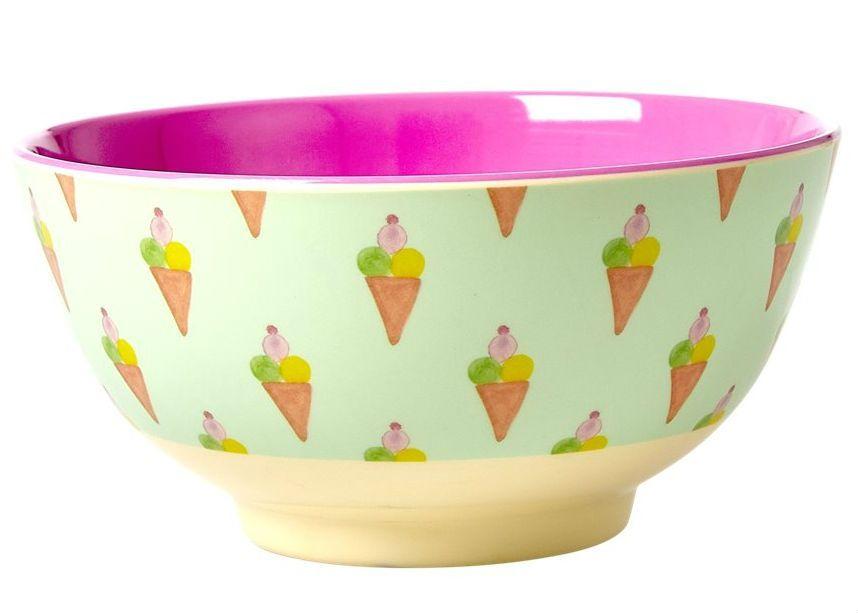Image of Melaminskål fra RICE - Medium - Ice Cream (MELBW-ICECREAM)