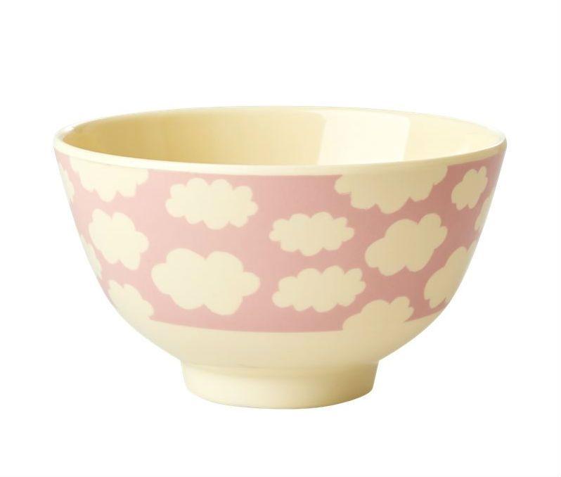 Image of Melaminskål fra RICE - Lille - Cloud Print Pink (MELBW-SCLOUDI)