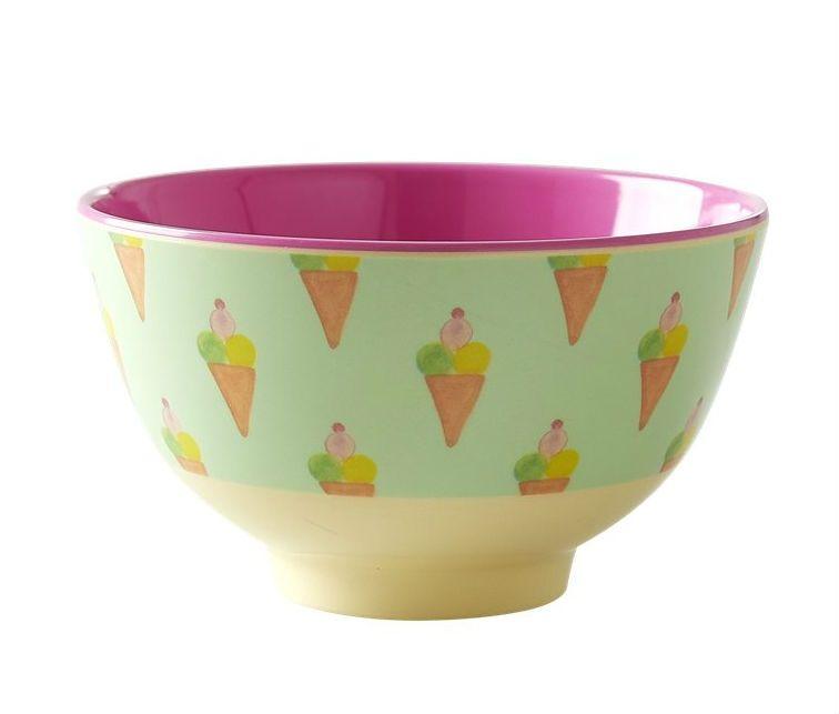 Image of Melaminskål fra RICE - Lille - Ice cream (MELBW-SICECREA)