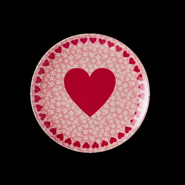 Image of Dessert tallerken i melamin fra RICE - Heart Print (MELCP-HEART)