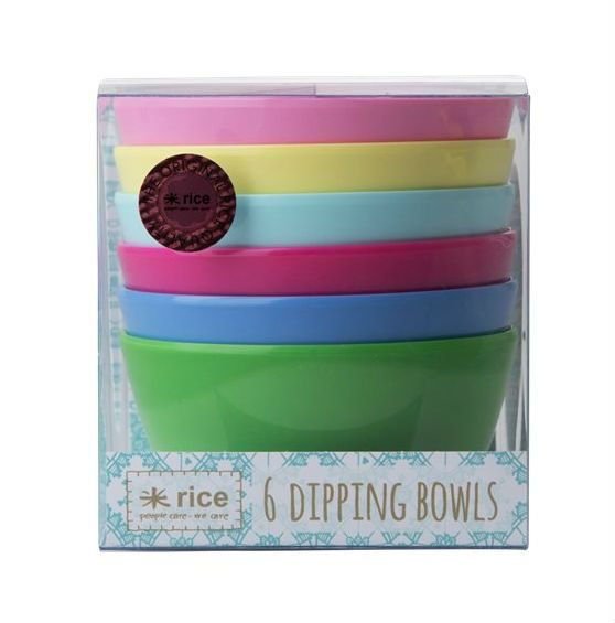 Image of Dipskåle fra RICE - Dipping Bowls - Classic Colors (6 stk) (MELDB-6CLAXC)