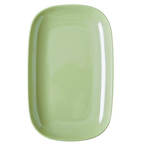 Oval tallerken fra Rice - Melamin - Mellem - Pastel Grøn