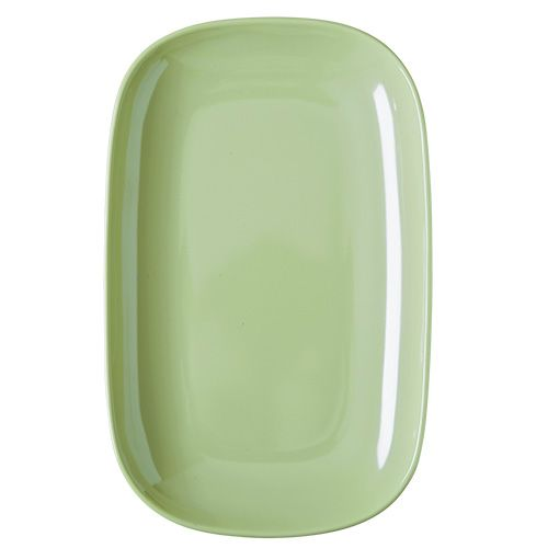 Image of   Oval tallerken fra Rice - Melamin - Mellem - Pastel Grøn