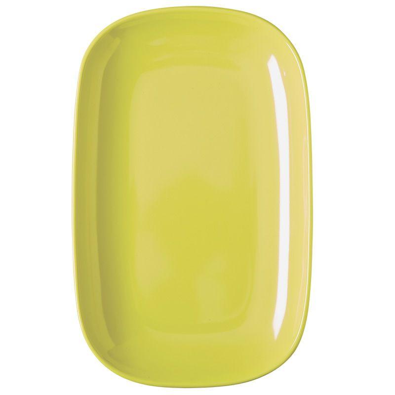 Image of Oval tallerken fra Rice - Melamin - Mellem - Pastel Gul (MELPL-MJAPSY)