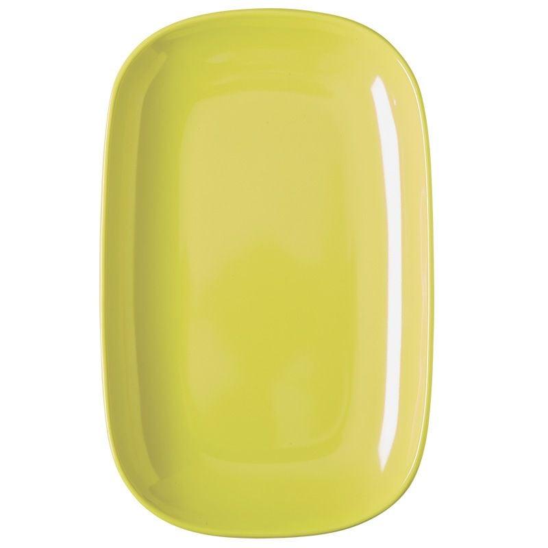 Oval tallerken fra Rice - Melamin - Mellem - Pastel Gul